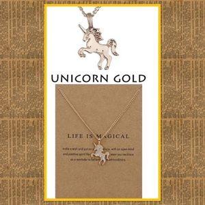 🦄 Gold Plated Unicorn Pendant Necklace🦄